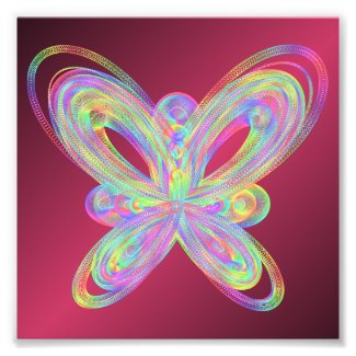 Colorful butterfly geometric figure. photo print