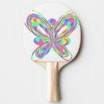 Colorful butterfly geometric figure - ping pong paddle