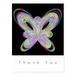 Colorful butterfly geometric figure. postcard