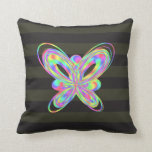Colorful butterfly geometric figure throw pillow