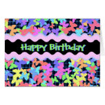 Colorful Butterfly Girly Birthday card