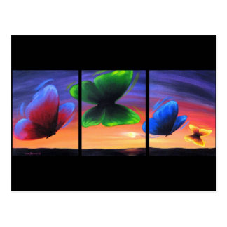 Colorful Butterfly Insects Painting - Multi Post Cards