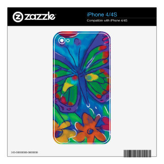 Colorful Butterfly iPhone 4S Decals