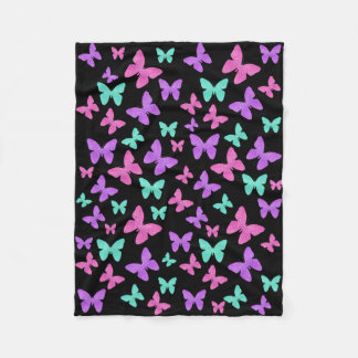 Colorful Butterfly Jewels Fleece Blanket