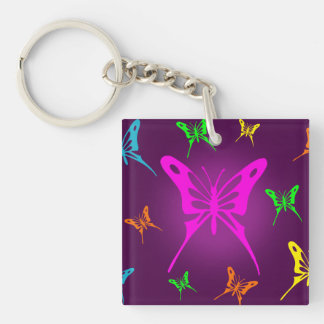 Colorful Butterfly Keychain