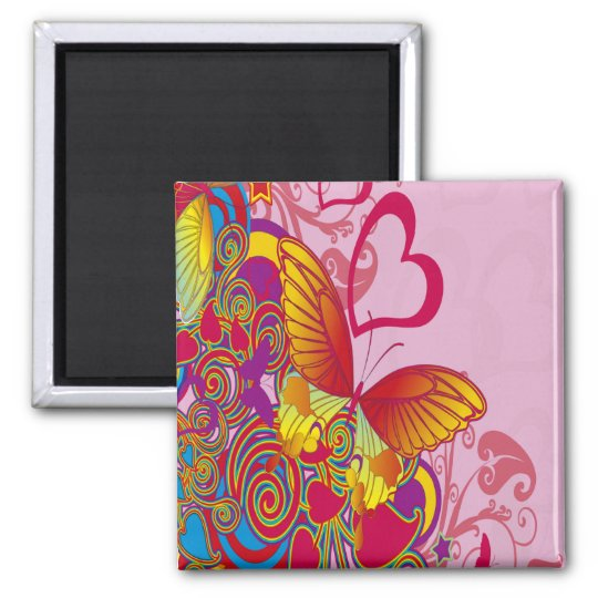 Colorful Butterfly Magnet