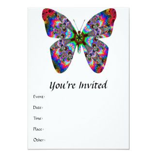 Colorful Butterfly Mandala 5x7 Paper Invitation Card