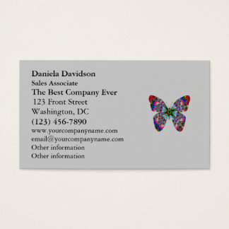 Colorful Butterfly Mandala Business Card