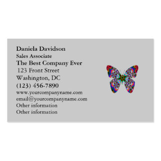 Colorful Butterfly Mandala Business Card Template