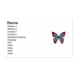 Colorful Butterfly Mandala Business Card Templates