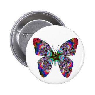 Colorful Butterfly Mandala Button
