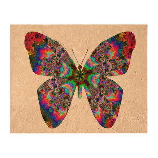 Colorful Butterfly Mandala Cork Fabric