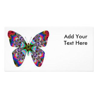 Colorful Butterfly Mandala Photo Card