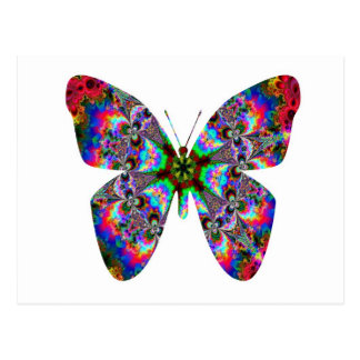Colorful Butterfly Mandala Postcard