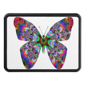 Colorful Butterfly Mandala Trailer Hitch Covers