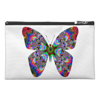 Colorful Butterfly Mandala Travel Accessory Bag