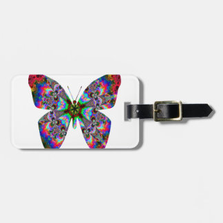 Colorful Butterfly Mandala Travel Bag Tag