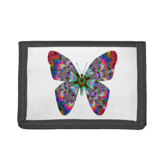 Colorful Butterfly Mandala Trifold Wallet
