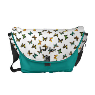 Colorful Butterfly Messenger Bag