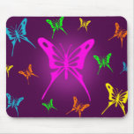 Colorful Butterfly Mouse Pad