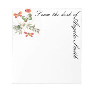 Colorful Butterfly Note Pad