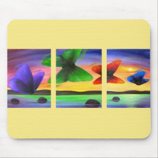 Colorful Butterfly Painting - Multi Mouse Pads