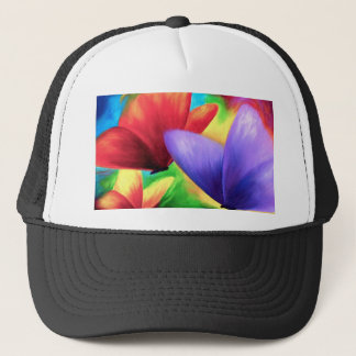 Colorful Butterfly Painting - Multi Trucker Hat