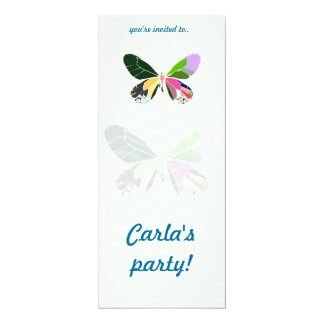 colorful butterfly party invitations