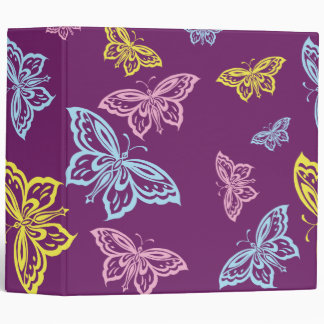 Colorful Butterfly Pattern Binder