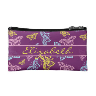 Colorful Butterfly Personalize Pattern Cosmetic Bag
