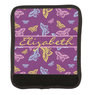 Colorful Butterfly Personalize Pattern Luggage Handle Wrap