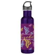 Colorful Butterfly Personalize Pattern Stainless Steel Water Bottle