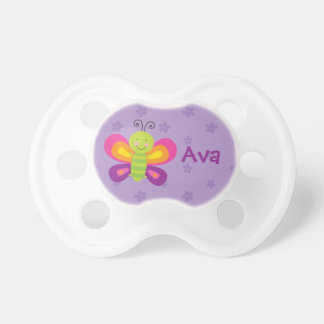 Colorful Butterfly Personalized Baby Pacifier