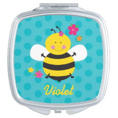 Colorful Butterfly Personalized Compact Mirror at Zazzle