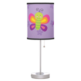 Colorful Butterfly Personalized Lamp for Girls