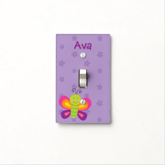 Colorful Butterfly Personalized Light Switch Cover