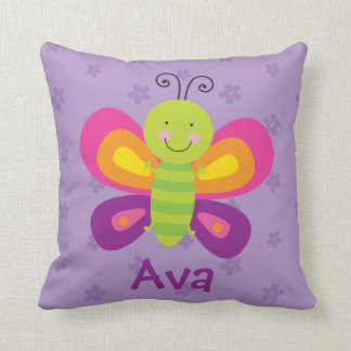 Colorful Butterfly Personalized Pillow