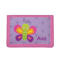Colorful Butterfly Personalized Wallet at Zazzle