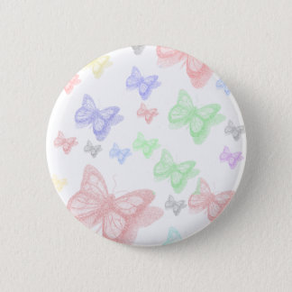 COLORFUL BUTTERFLY PINBACK BUTTON