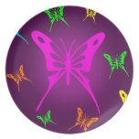 Colorful Butterfly Plate