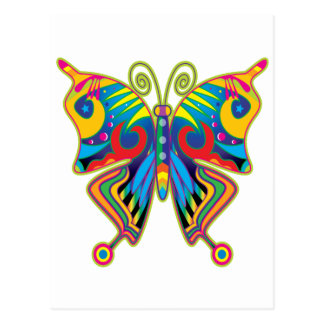 Colorful butterfly postcard