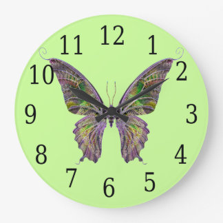 Colorful Butterfly Round Clock
