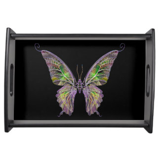 Colorful Butterfly Serving Tray