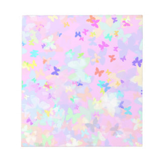 Colorful Butterfly Shapes Note Pad