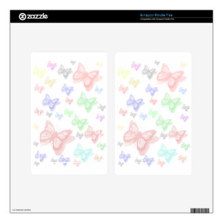 COLORFUL BUTTERFLY SKIN FOR KINDLE FIRE