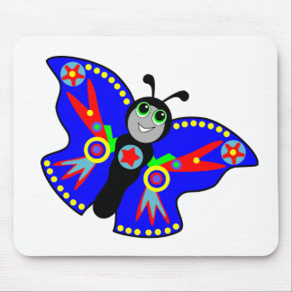 colorful butterfly superhero mouse pad