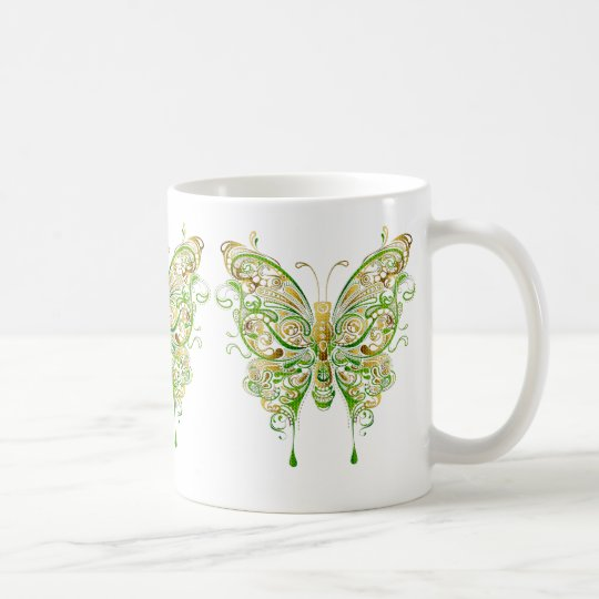 Colorful Butterfly Tattoo Style Coffee Mug