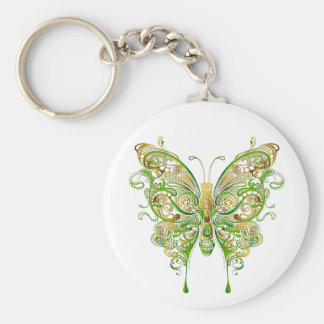 Colorful Butterfly Tattoo Style Keychain
