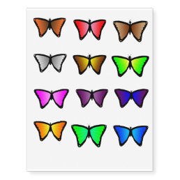Colorful butterfly temporary tattoos