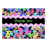 "Colorful Butterfly ""Thank You"" card"